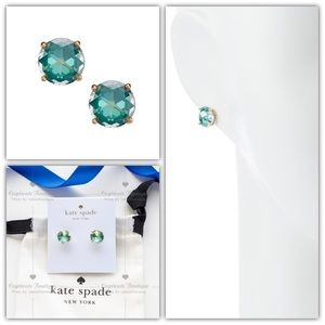 Kate Spade Bright Ideas Stud Earrings Emerald